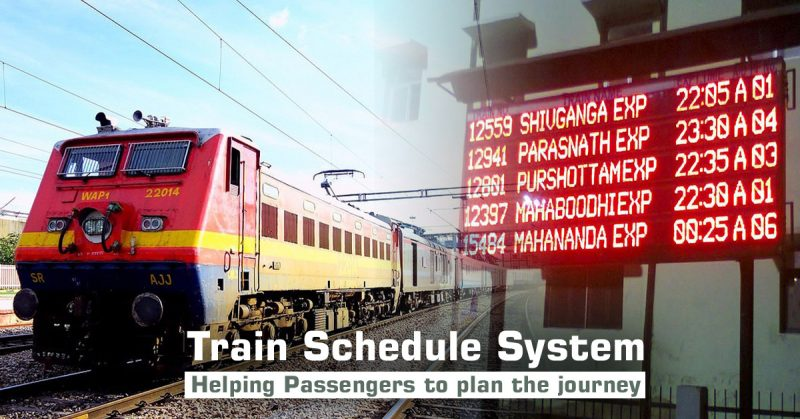 Train Schedule System: Helping Passengers to plan the Journey
