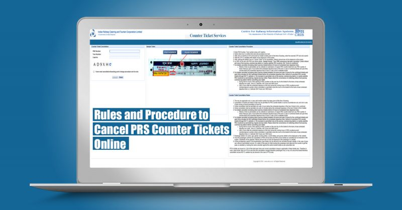 Rules and Procedures to Cancel PRS Counter Tickets Online