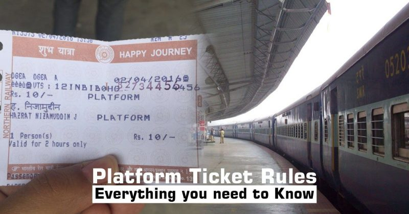 Indian Railways: Platform Ticket Rules one should know